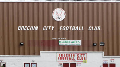 Exterior shot of Brechin City's Glebe Park.