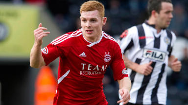 Fraser Fyvie in action for Aberdeen.