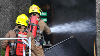 Fire: Blaze rips through school in Aberdeenshire.