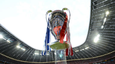 The Champions League trophy pictured in May 2012.