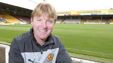 Quality shot of Stuart McCall, Motherwell manager, at Fir Park.