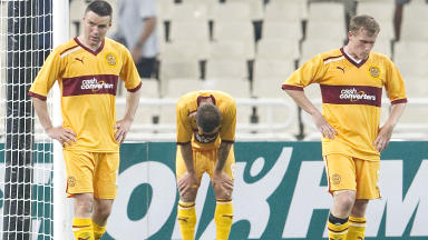 Motherwell dumped out of Champions League by Panathinaikos.