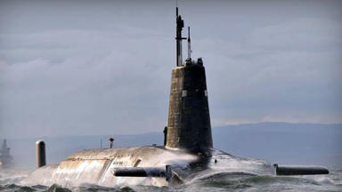 HMS Vanguard Royal Navy Trident missile submarine quality image