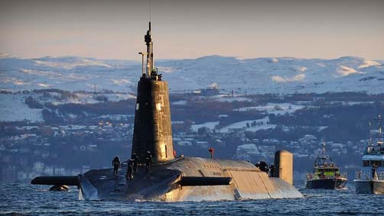 Trident: Nuclear submarine at Faslane naval base (file pic).