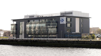 Quality image of STV headquarters at Pacific Quay, Glasgow.