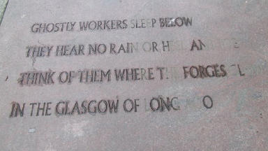 Glas-goes Poetic: The work of Edwin Morgan on city streets.