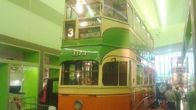 The coronation tram in the Riverside Museum