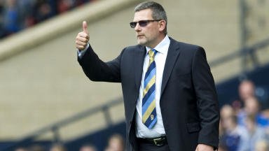 Craig Levein looks on during Scotland's draw against Serbia.