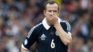 Dejection for Scotland's Charlie Adam