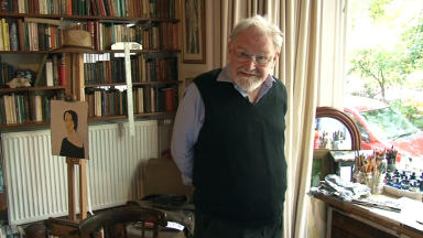 Alasdair Gray: Artist has worked on new mural for Hillhead subway station.