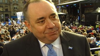 First Minister Alex Salmond at George Square for the Olympic and Paralympic parade.