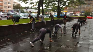 Glasgow Parkour Coaching in training.