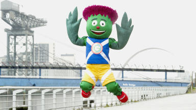 Clyde the Thistle the Glasgow 2014 Commonwealth Games mascot.