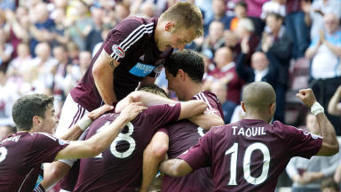 Hearts goal, August 2012.