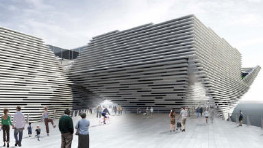 V&A at Dundee: Artist impression of the new development.