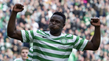 Victor Wanyama celebrate, Celtic 2-0 Dundee, September 2012.
