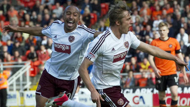 Arvy Novikovas, Mehdi Taouil, Dundee United 0-3 Hearts, September 2012.