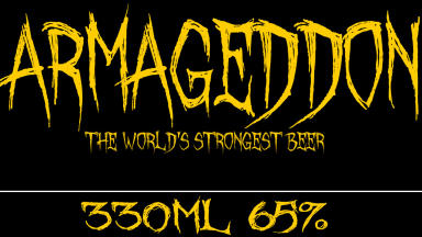 Apocalypse Now: Armageddon is the strongest beer ever produced at 65%.
