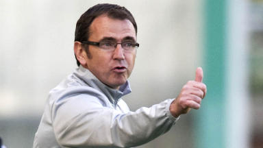 Hibernian manager Pat Fenlon.