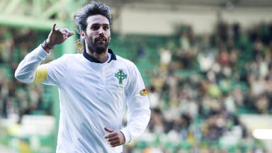 Celtic's Georgios Samaras celebrates after scoring the opening goal of the game