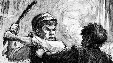 The fatal blow (From Scribner's Monthly, 1879)