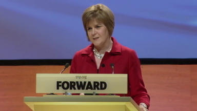 Nicola Sturgeon addressed SNP delegates at the party conference in Perth.