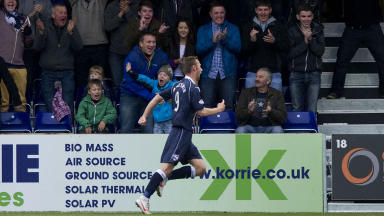 Colin McMenamin's late winner gave Ross County their first home win of the season.