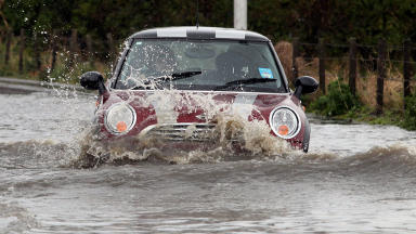 Flooding - mini in flood water