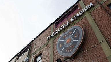 Hearts' Tynecastle Stadium.