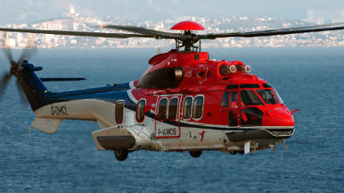 Eurocopter EC225 EC-225 Super puma helicopter as used on north sea oil rig trancfer flights Quality image