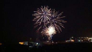 Fireworks on November 5 at Aberdeen Beach