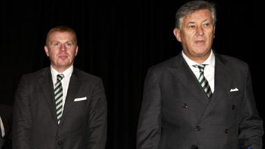 Celtic hold their annual general meeting. Celtic manager Neil Lennon and Chief Executive Peter Lawwell (right).