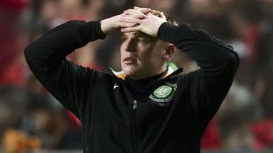 Dejection for Celtic manager Neil Lennon.