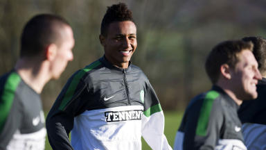 Celtic striker Juan Agudelo.