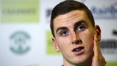 Hibernian captain Paul Hanlon speaks to the press ahead of taking on Aberdeen