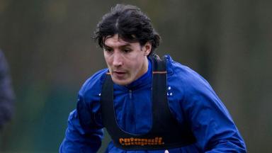 Rangers striker Francisco Sandaza in training, November 2012.