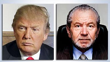 Donald Trump and Sir Alan Sugar composite