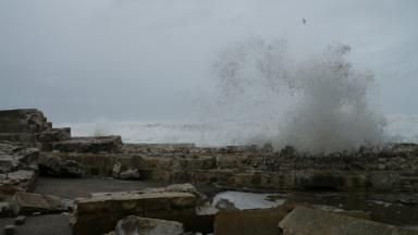 Lossiemouth Sea Wall Collapse