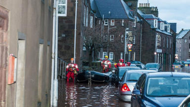 Stonehaven flood, 23-12-12.