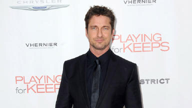 Superstar: Gerard Butler showed fans a Scottish loch.