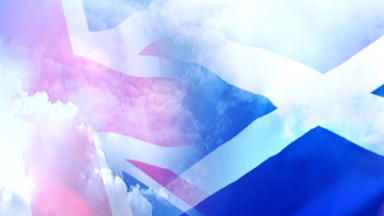 Montage of Union Flag and Saltire for independence and referendum themed stories.