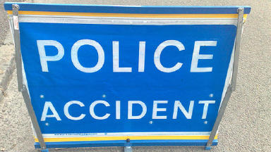Crash: A lorry and a car have been involved in a collision.
