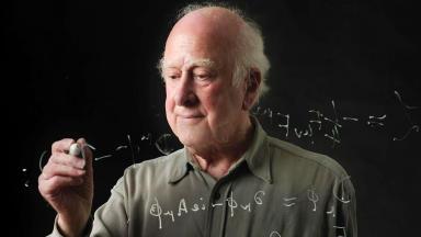 Professor Peter Higgs.