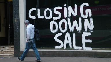 Recession - closing down sale.