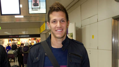 Celtic signing target Rami Gershon arrives at Glasgow Airport.