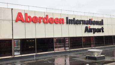 Aberdeen International Airport new sign