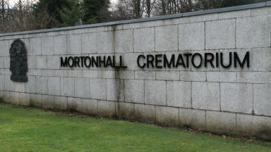 Remains: Ashes were buried secretly. (file pic)