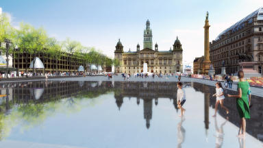 Entry One for the controversial £15m redesign of Glasgow's George Square revealed on January 8 2013