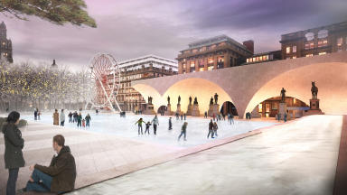 Entry Four for the controversial £15m redesign of Glasgow's George Square revealed on January 8 2013