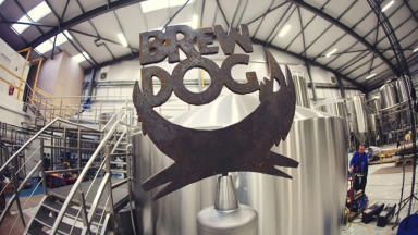 Interior shot of new BrewDog brewery in Ellon.